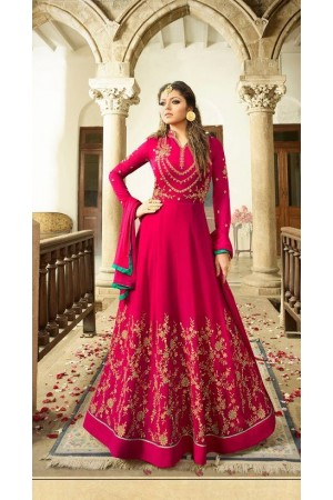 Drashti Dhami Rani color georgette party wear anarkali kameez