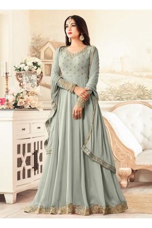 sonal chauhan rangoli Grey party wear anarkali 26005