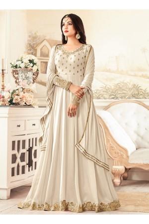 sonal chauhan rangoli off white party wear anarkali 26003