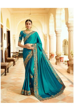 Rama silk Indian wedding wear saree 5010