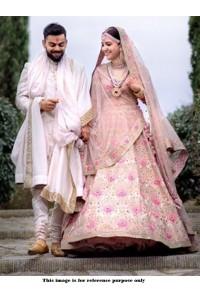 Bollywood Style Anushka sharma white tafetta silk wedding lehenga choli
