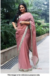 Bollywood Style Vidhya Balan georgette saree