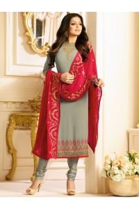 Drashti Dhami grey color georgette party wear kameez