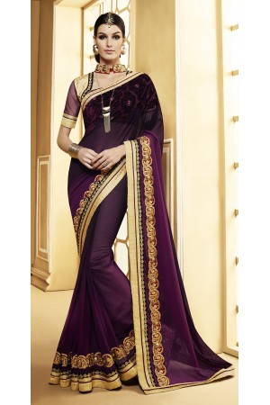 Party-wear-purple-color-7-saree