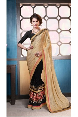 Party-wear-beige-black-color-7-saree