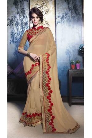 Party-wear-beige-color-5-saree