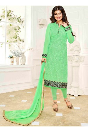 Ayesha Takia Green  color georgette salwar kameez