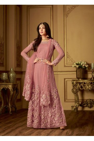 Sonal Chauhan Pink net Wedding anarkali