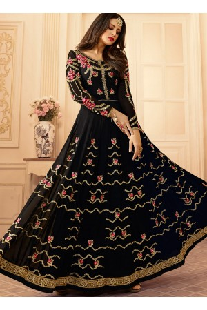 Black georgette wedding wear salwar kameez