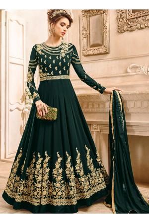 Green georgette wedding wear salwar kameez