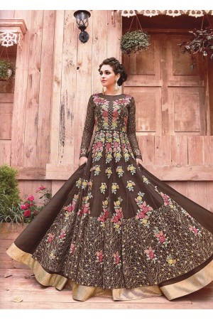 Brown Lehenga kameez and Pant style kameez -2-in-1 set