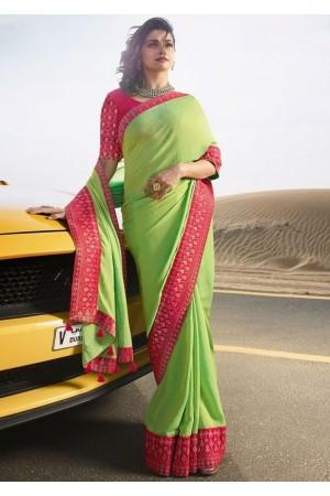 prachi desai honeydew silk saree 20589