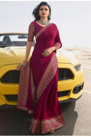 prachi desai wine silk saree 20582