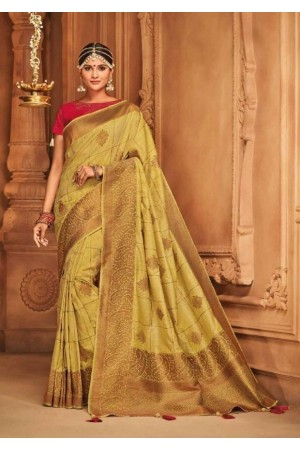 blonde silk jacquard saree 986