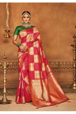gajari and golden silk jacquard saree 982