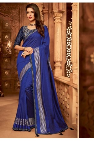 royal blue designer silk saree 2316
