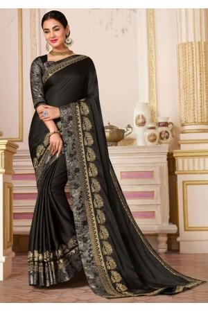 sonal chauhan black saree RG105191