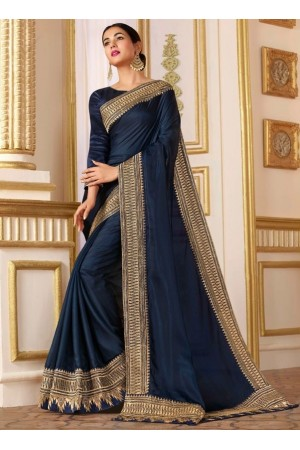 sonal chauhan midnight blue saree RG105186