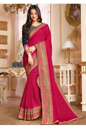 sonal chauhan rani pink saree RG105190