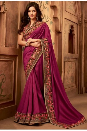 wine designer silk saree 2308
