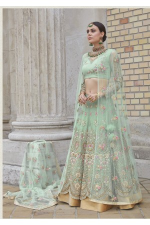 Fresh Green color party wear Lehenga Choli