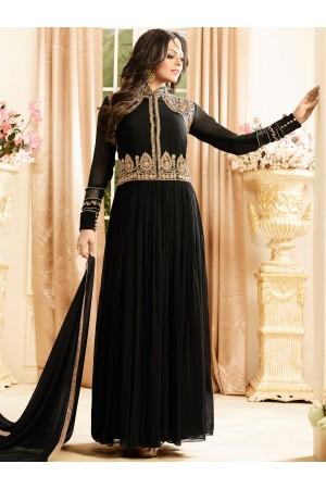 Drashti Dhami black color georgette party wear anarkali kameez