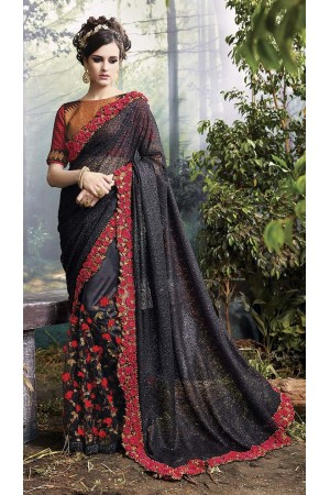 Party-Wear-Black-Heavy-Work-Saree