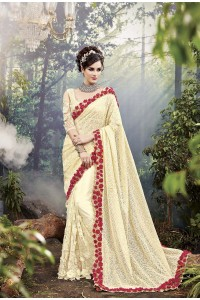 Party-Wear-Light-Yellow-Heavy-Work-Saree
