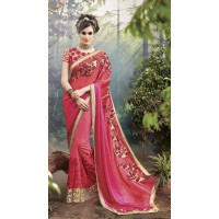 Party-Wear-Red-Heavy-Work-Saree