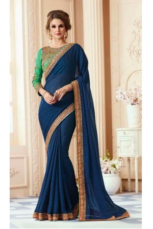 Party-wear-dark-blue-designer-sarees-30008