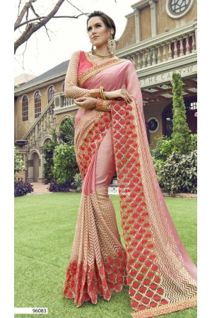 Party-wear-pink-color-Georgette-saree