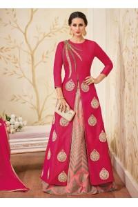 Pink color mastani silk wedding wear masakali