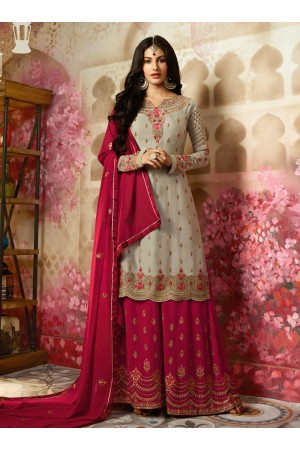 Amyra Dastur Beige Indian sharara style wedding suit 4010