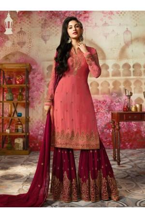 Amyra Dastur Pink Indian sharara style wedding suit 4005