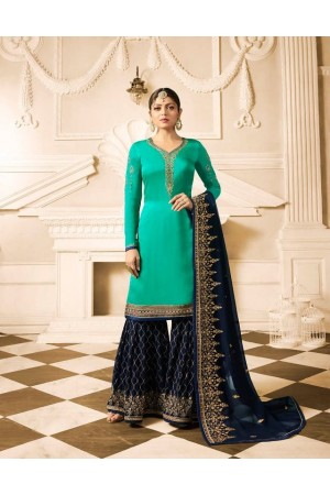 Drashti Dhami Navy blue wedding sharara suit 2507