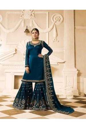 Drashti Dhami blue wedding sharara suit 2501