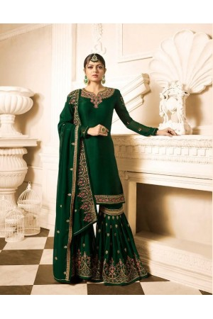 Drashti Dhami green wedding sharara suit 2505
