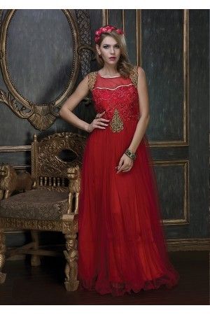 Embroidery-work-net-santoon-red-gown-5508