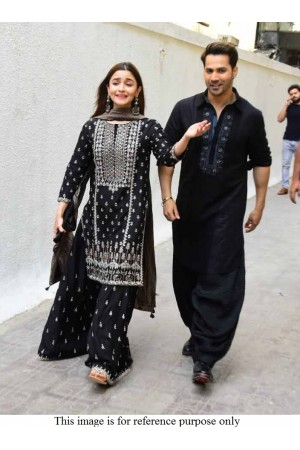 Bollywood Alia Bhat Black georgette palazzo suit