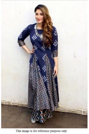 Bollywood Kareena Kapoor Indigo kurti palazzo set