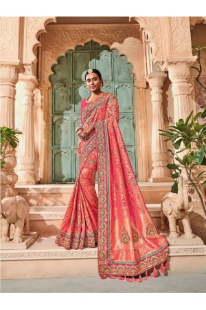 Pink pure banarasi silk wedding saree 2012