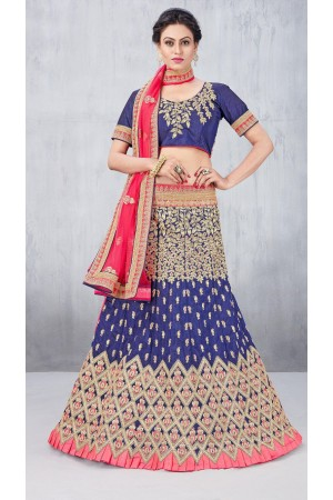 Party Wear Blue Lehenga 131