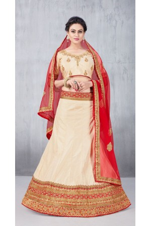 Party Wear Cream Lehenga 148