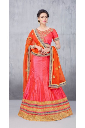 Party Wear Onion Pink Lehenga 144