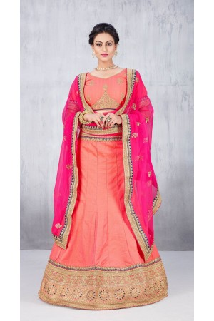 Party Wear Peach Lehenga 147