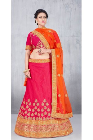 Party Wear Pink Lehenga 136