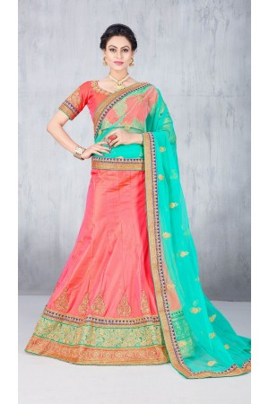 Party Wear Pink Lehenga 140