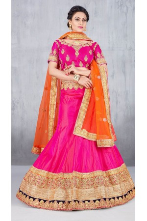 Party Wear Pink Lehenga 143