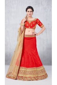 Party Wear Red Lehenga 138