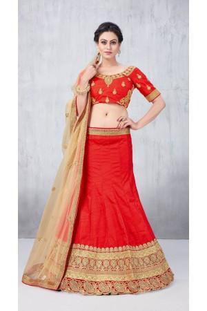 Party Wear Red Lehenga 138